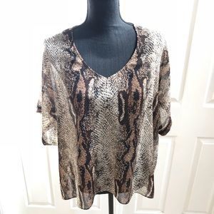 Show Me Your Mumu snakeskin print tunic sz medium